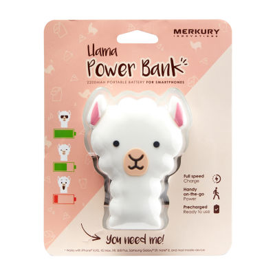 Merkury Innovations 2200 mAh Power Bank - Llama