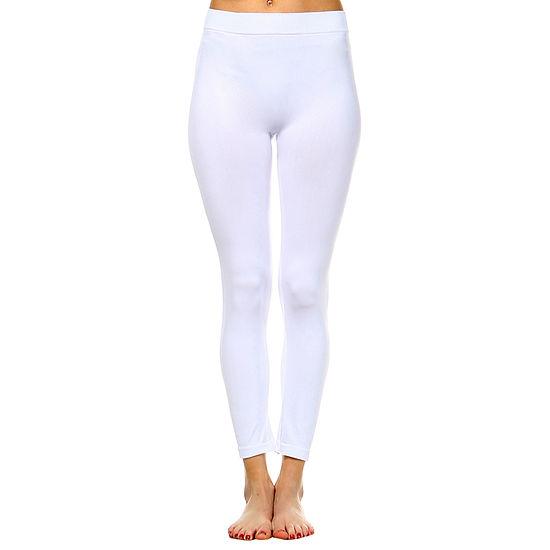 White Mark Womens Mid Rise Full Length Leggings
