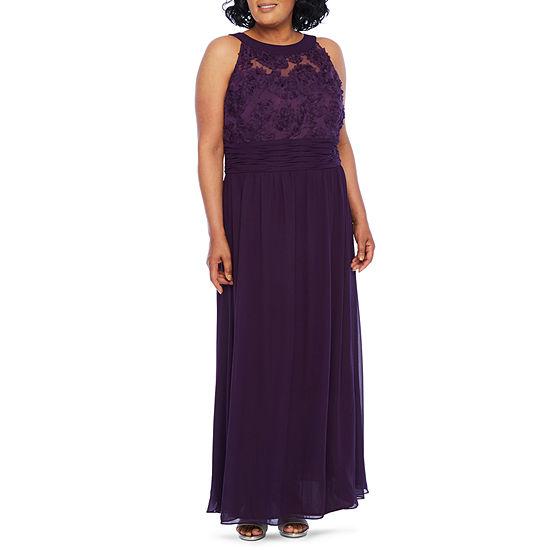 Scarlett Sleeveless Evening Gown-Plus