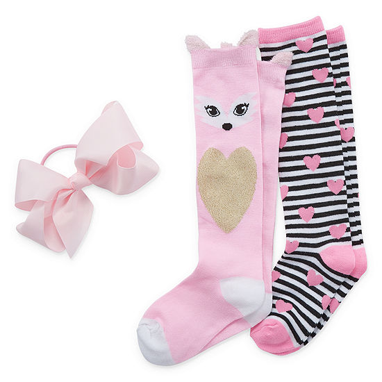 Capelli of N.Y. Big Girls 2 Pair Knee High Socks