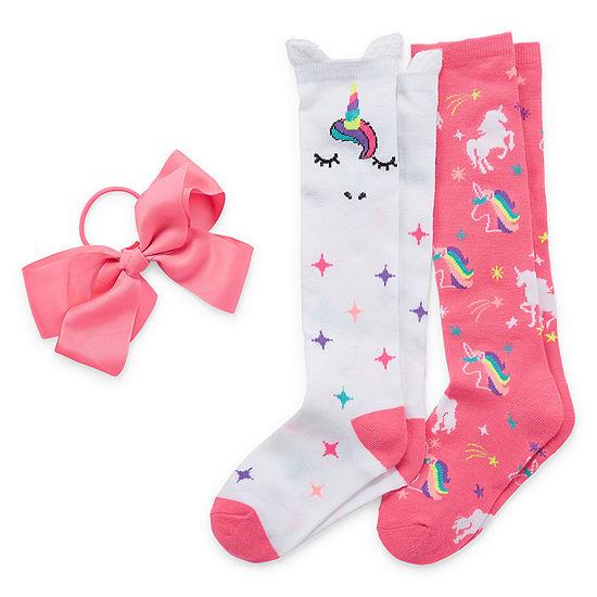 Capelli of N.Y. 2 Pair Knee High Socks Girls Big Kid