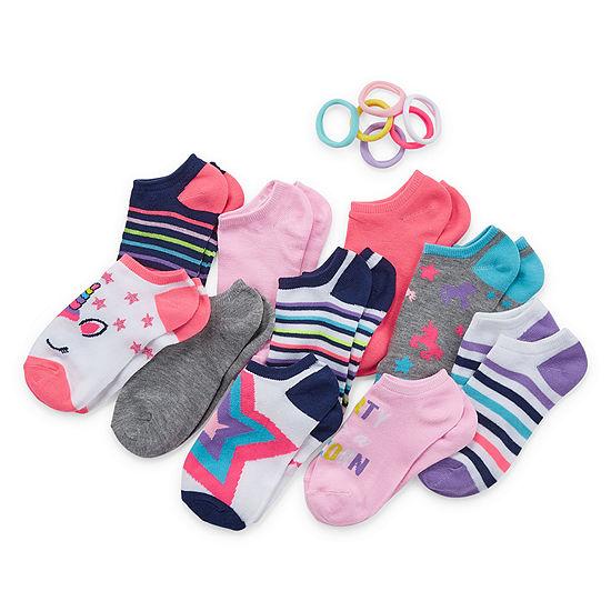 Capelli of N.Y. Big Girls 10 Pair Low Cut Socks