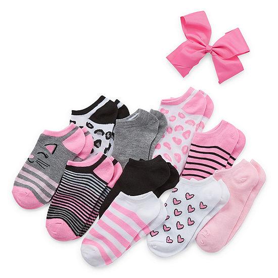 Capelli of N.Y. Big Kid Girls 10 Pair Low Cut Socks