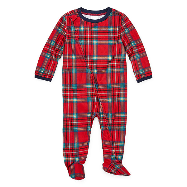 North Pole Trading Co. Fa La Llama Family Footed 1 Piece Pajama -Unisex Baby