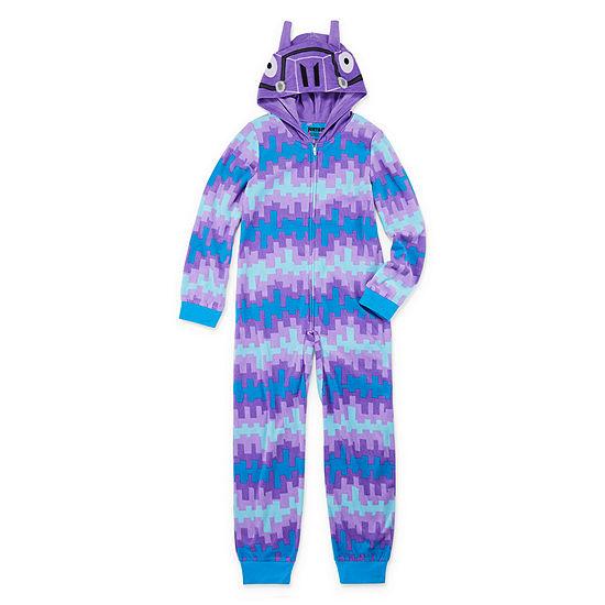 Fortnite Boys Microfleece One Piece Pajama Long Sleeve