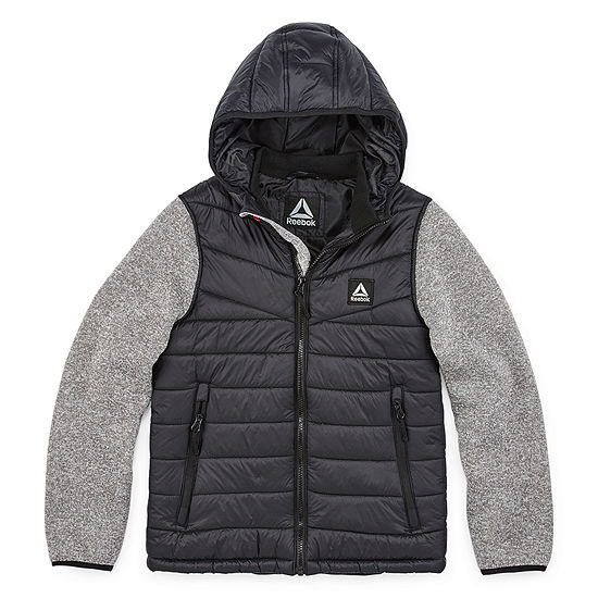 Reebok Puffer Vest With Sleeves - Preschool / Big Kid Boys