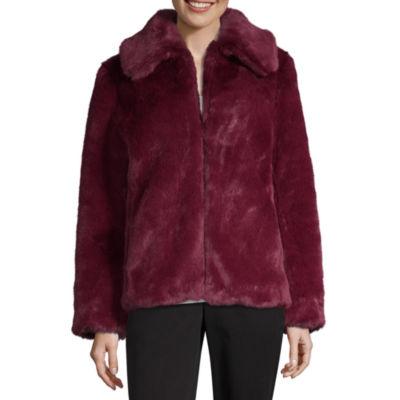 Liz Claiborne Faux Fur Midweight Faux Fur Coat