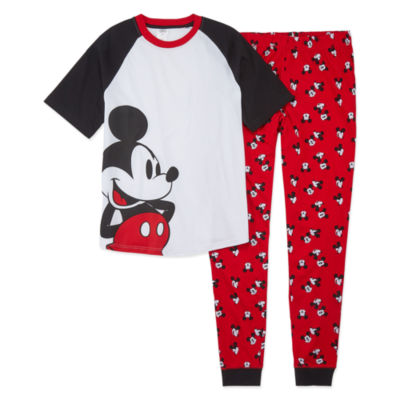 Disney Collection Family Sleep Mickey Mens Mouse Pajama Set Mens 2-pc. Mickey Mouse Pant Pajama Set