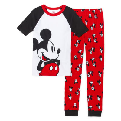 Disney Collection Mickey Mouse Pajama Set Boys Toddler Boys 2-pc. Mickey Mouse Pajama Set