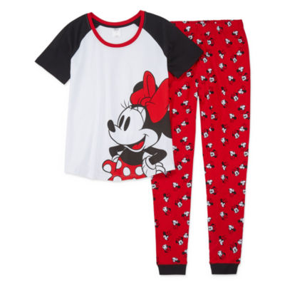 Disney Collection Family Sleep Girls 2-pc. Minnie Mouse Pant Pajama Set