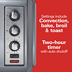 Hamilton Beach® 6 Slice Easy Reach® Toaster Oven with Roll-Top Door