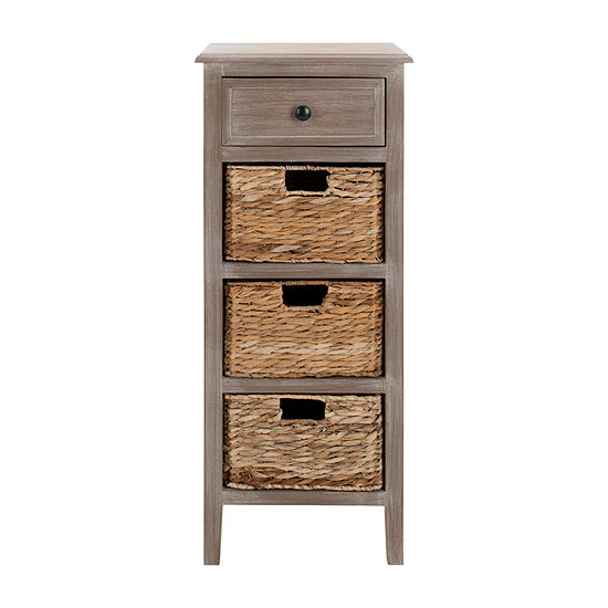 Michaela 4-Drawer Storage End Table