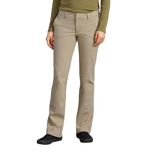 Dickies Womens Mid Rise Slim Pant