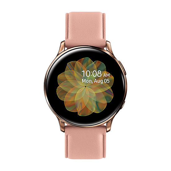 Samsung Galaxy Active 2 LTE Womens Rose Goldtone Leather Smart Watch-Sm-R835usdaxar
