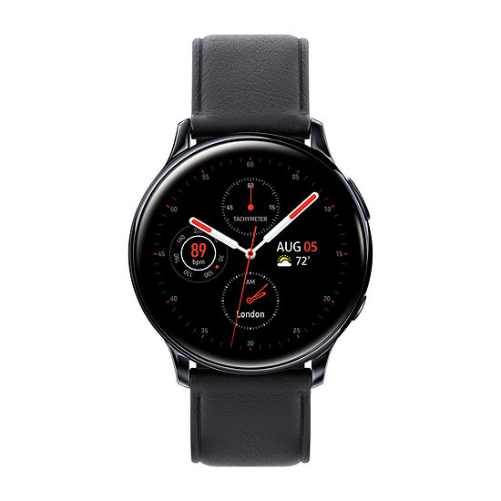 Samsung Galaxy Active 2 LTE Mens Black Leather Smart Watch-Sm-R835uskaxar
