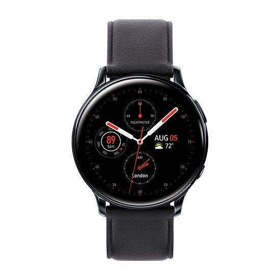Samsung Galaxy Active 2 LTE Mens Black Leather Smart Watch-Sm-R835uskaxar