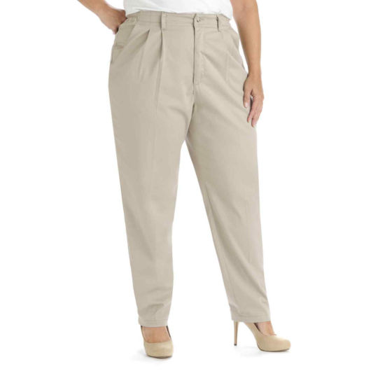 Lee® Side-Elastic Twill Pants - Plus