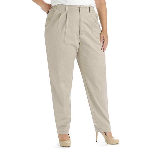 Lee® Side-Elastic Twill Pants - Plus