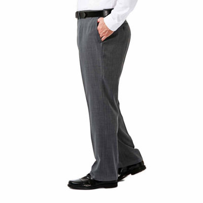 HaggarTravel Performance Stria Classic Fit Suit Pants - Big & Tall