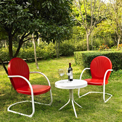 Crosley Griffith Metal 3-pc. Patio Lounge Set