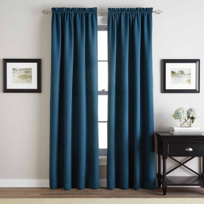 Addison Twill Rod-Pocket Curtain Panel