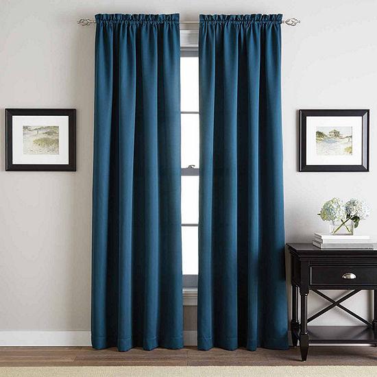 CHF Light-Filtering Rod-Pocket Single Curtain Panel