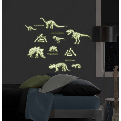 WallPops Dinosaurs Glow In The Dark Wall Art Kit