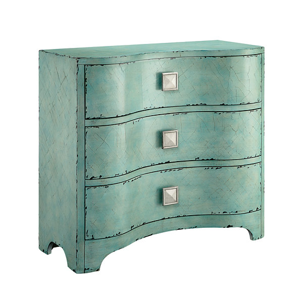 Madison Park Katem Crackle Bombe Accent Chest