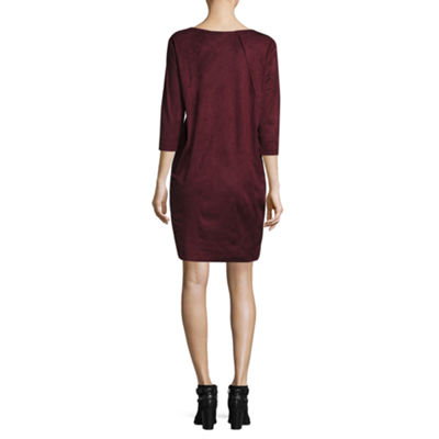Worthington® Edition Faux-Suede Sheath Dress