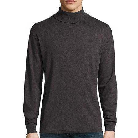Mens Vintage Shirts – Retro Shirts St. Johns Bay Long-Sleeve Legacy Interlock Turtleneck X-large  Gray $11.99 AT vintagedancer.com