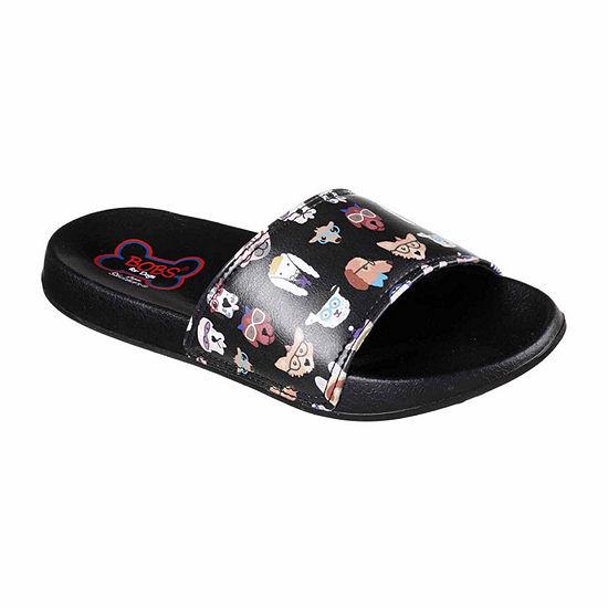 Skechers Bobs Pup Smarts Womens Walking Shoes Slip-on