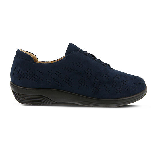 Flexus Womens March Oxford Shoes Closed Toe