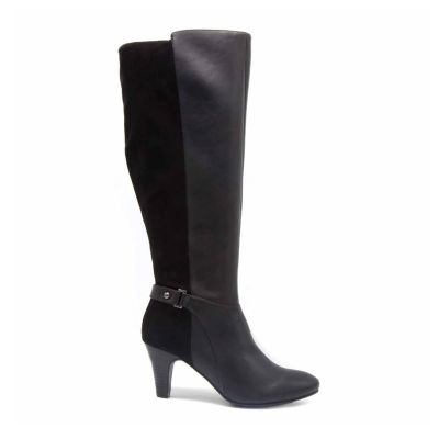 Towne By London Fog Womens Evie Dress Boots Stacked Heel Zip
