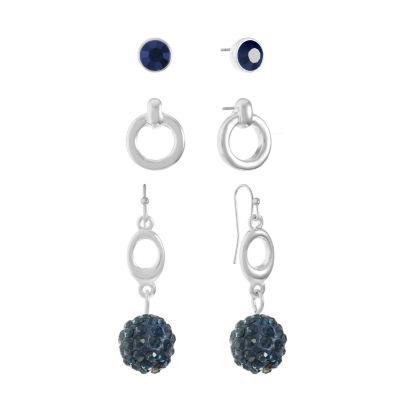 Liz Claiborne Womens 3 Pair Blue Jewelry Set
