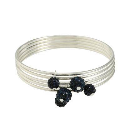 Liz Claiborne Womens Blue Bangle Bracelet
