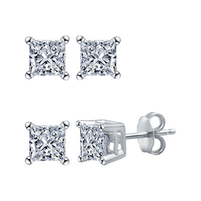 Deluxe Collection 1/4 CT. T.W. Genuine White Diamond 14K Gold 3.4mm Stud Earrings