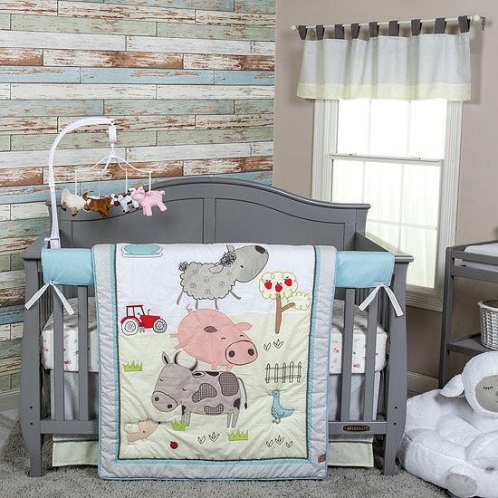 Trend Lab Farm Stack 4-pc. Crib Bedding Set