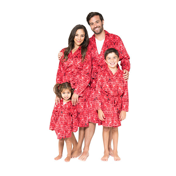 Red Fairisle Family Pajama Robe- Toddler