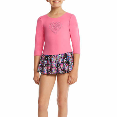 Jacques Moret 3/4 Sleeve Hearts Dance Dress - Girls' Sizes 6-14