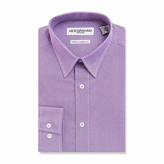 Nick Graham Everywhere Mens Point Collar Long Sleeve Stretch Dress Shirt