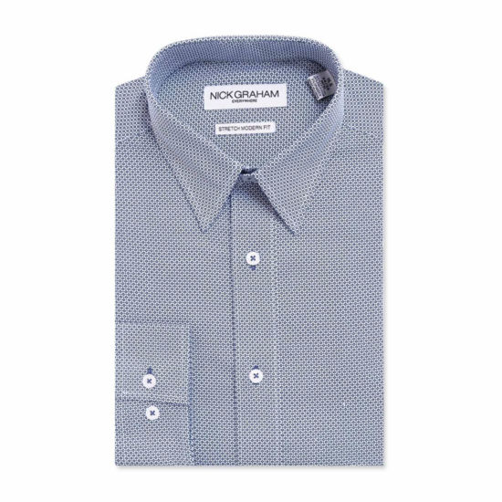 Graham And Co Graham And Co Long Sleeve Dress Shirt Long Sleeve Woven Geometric Dress Shirt
