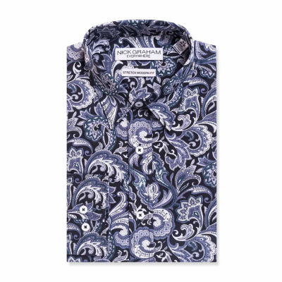 Graham And Co Graham And Co Long Sleeve Dress Shirt Long Sleeve Woven Paisley Dress Shirt