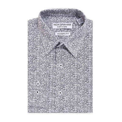 Graham And Co Graham And Co Long Sleeve Dress Shirt Long Sleeve Woven Floral Dress Shirt