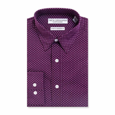 Graham And Co Graham And Co Long Sleeve Dress Shirt Long Sleeve Woven Dots Dress Shirt