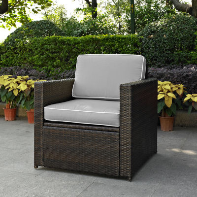Palm Harbor Wicker Arm Chair With Cushions