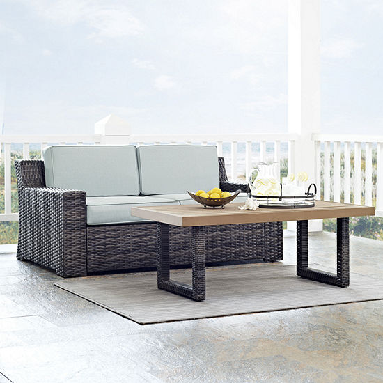 Beaufort 2-pc. Wicker Conversation Set With Cushions - Loveseat and Coffee Table