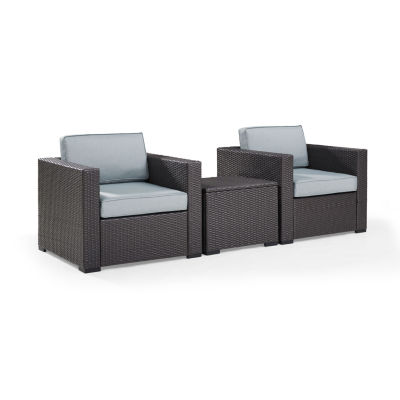 Biscayne 3-pc. Wicker Conversation Set - Chairs and Coffee Table