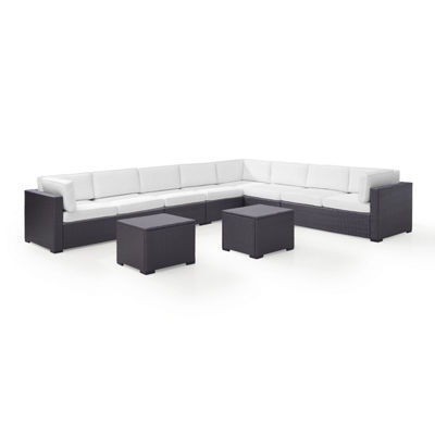 Biscayne 6-pc. Wicker Conversation Set - Loveseats, Armless Chairs, Coffee Table