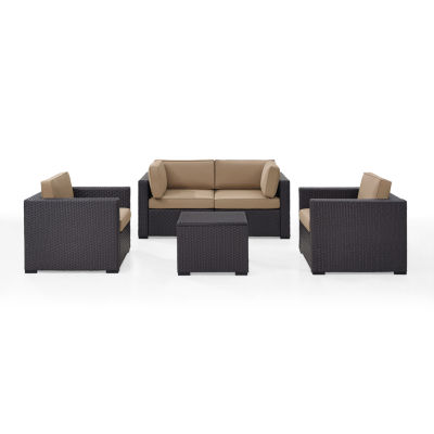 Biscayne 5-pc. Wicker Conversation Set - Armchairs, Corner Chairs, Coffee Table