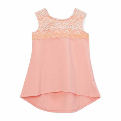 "Girl's ""Grace"" High-Low Hem Lace Tank"
